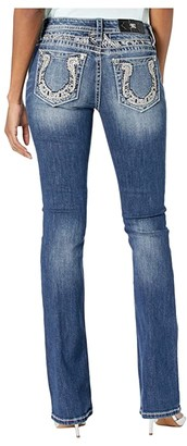 Miss Me Horseshoe Bootcut Jeans in Medium Blue (Medium Blue) Women's Jeans