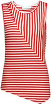 Kain Label Dudley asymmetric cutout striped stretch-modal tank