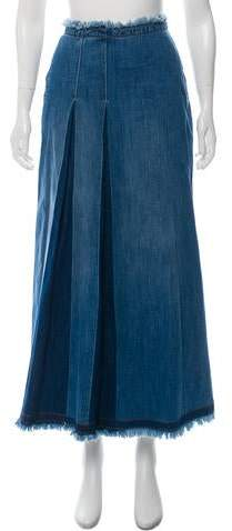 See by Chloe Denim Midi Skirt