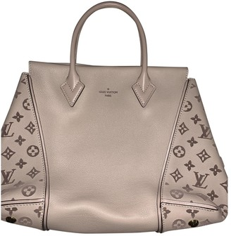 Louis Vuitton Tote W Beige Leather Handbags