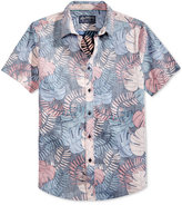 American Rag Men's Tropical Leaf-Print Cotton Shirt, Only at Macy's
