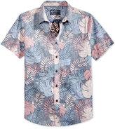 American Rag Men's Tropical Leaf Print Shirt, Created for Macy's