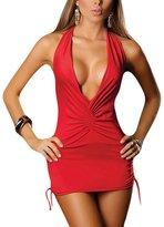 REINDEARWomen Sexy V-Neck Lingerie Bodysuits Halter Babydolls US seller