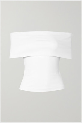 Rosetta Getty Off-the-shoulder Stretch-jersey Top - White