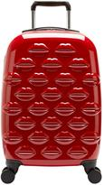 Lulu Guinness Hard Sided 4-Wheel Cabin Case - Red