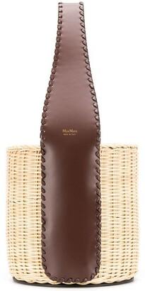 Max Mara Straw Detail Bucket Bag