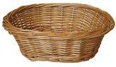JVL Oval Full Steamed Willow Basket - 23 x 18 x 8 cm