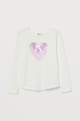 H&M Jersey top with sequins
