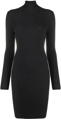 Wolford Ribbed Knit Turtleneck Dress