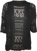 WearAll Women's Plus Size Crochet Knitted Short Sleeve Cardigan - US 14-16 (UK 18-20)