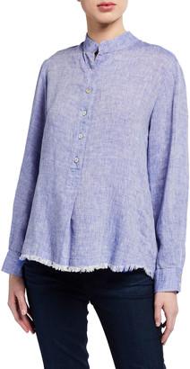 Finley Henri Oversized Washed Linen Popover Shirt