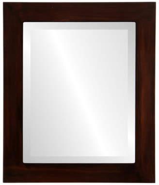 """The Oval And Round Mirror Store Soho Framed Rectangle Mirror in Mocha, 23""""x27"""""""