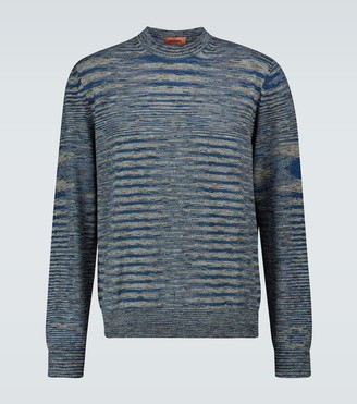 Missoni Striped long-sleeved crewneck sweater
