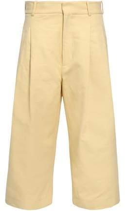 Marni Cropped Cotton-twill Wide-leg Pants