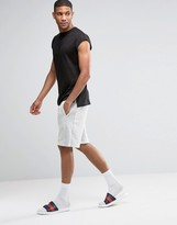 Asos Loungewear Shorts With Ribbed Panels