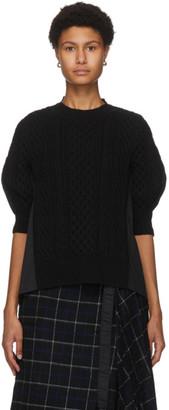 Sacai Black Wool Sweater