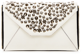 Diane von Furstenberg Agent Selena Crazy Stud Leather Zip On Clutch