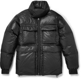 Acne Studios Minus Quilted Shell Hooded Down Jacket - Black