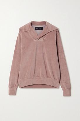 LES TIEN Cotton-blend Velour Sweatshirt - Antique rose