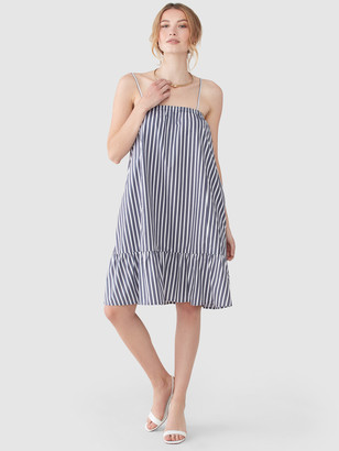 ATM Anthony Thomas Melillo Cotton Poplin Stripe Tent Dress