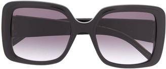Elie Saab Oversized-Frame Logo Sunglasses