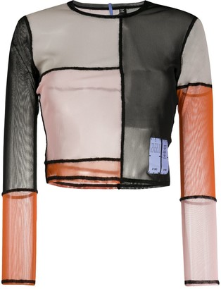 Mcq Swallow Colour-Block Long-Sleeved Top
