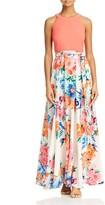 Eliza J Floral-Skirt Maxi Dress