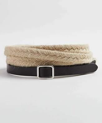 J. Jill J.Jill Women's Belts NATURAL/BL - Natural Jute & Leather Double-Wrap Belt