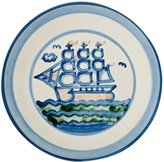 Hadley Pottery Plate 9 Inches, Ship Pattern