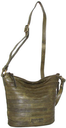 Nino Bossi Handbags Women's Handbags Green - Green Saige Leather Crossbody Bag
