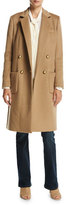 MICHAEL Michael Kors Tailored Double-Breasted Wool-Blend Coat, Dark Camel