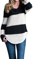 Pure Handknit Statement Sweater - Cowl Neck (For Women)