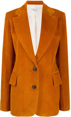 Victoria Beckham Corduroy Single-Breasted Blazer