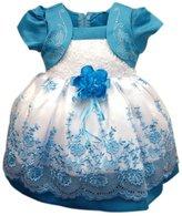 Weixinbuy Kid Baby Girl Tulle Puff Sleeve Party Princess Tutu Dress L