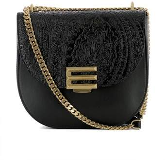 Etro Women's Black Leather Shoulder Bag.