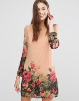 Yumi Floral Border Tunic Dress