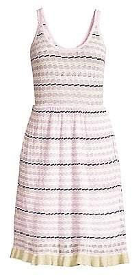 Rebecca Taylor Women's Sleeveless Stripe Pointelle Dress