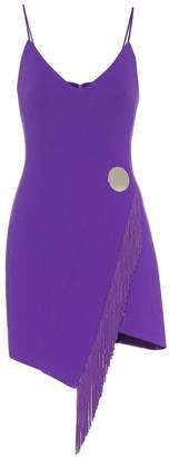 David Koma Stretch wool-blend minidress
