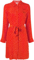 P.A.R.O.S.H. dotty belted shirt dress - women - Silk - XS