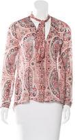 Alice + Olivia Paisley Print Long Sleeve Blouse