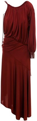 Sies Marjan One-Shoulder Draped Dress