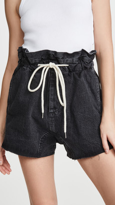Bassike Denim Paperbag Shorts