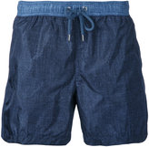 Moncler denim-effect track shorts - men - Polyamide - M