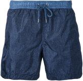 Moncler denim-effect track shorts