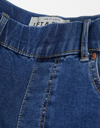 New Look lift and shape jegging in mid blue