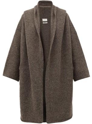 LAUREN MANOOGIAN Capote Alpaca-blend Cardigan - Womens - Dark Grey
