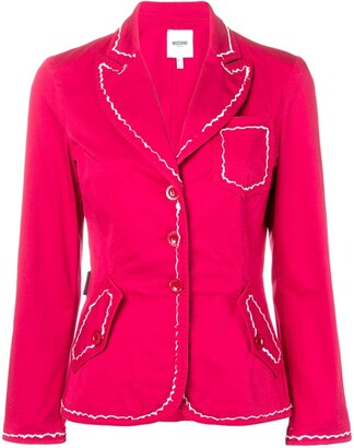 Moschino Pre-Owned 2000's Contrast Stitching Blazer
