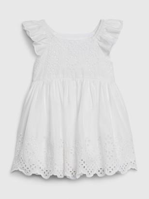 Gap Baby Eyelet Flutter Dress