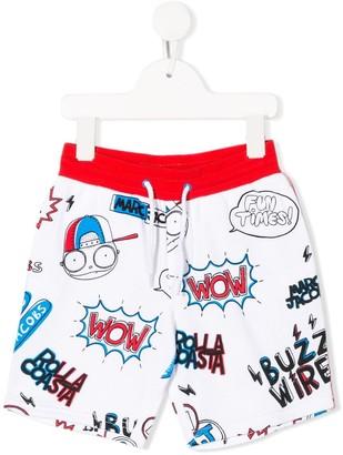 Little Marc Jacobs drawstring comic print shorts