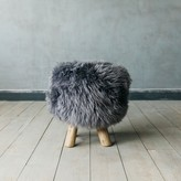 Graham and Green Shawn Sheepskin Stool In Silver
